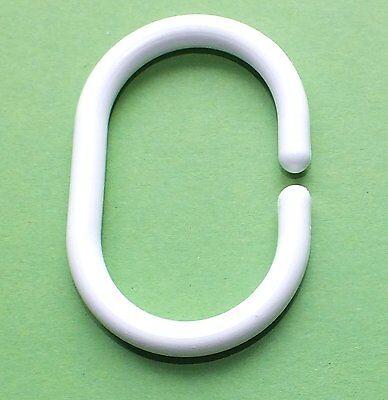 12 x Ringe Duschvorhangringe weiss für Duschvorhang