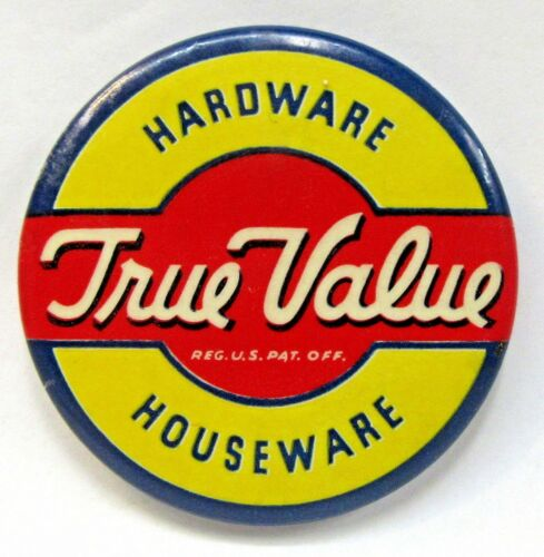 TRUE VALUE HARDWARE HOUSEWARE advertising celluloid pocket mirror *