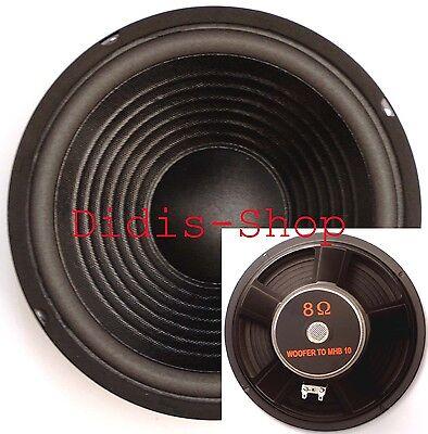 """250 mm 10"""" Bass PA Lautsprecher 200w / 8ohm Bass NEU Basslautsprecher 200 Watt x"""