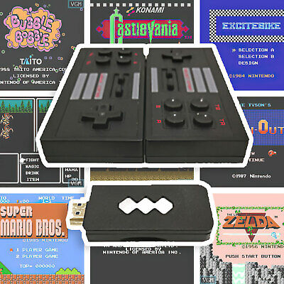 4K HDMI NES RETRO GAMING STICK – Over 550 8-bit Games Built-In | 2 Wireless Cont