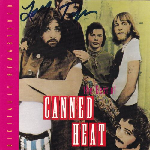 """""""The Best of Canned Heat"""" CD signed by Larry Taylor"""