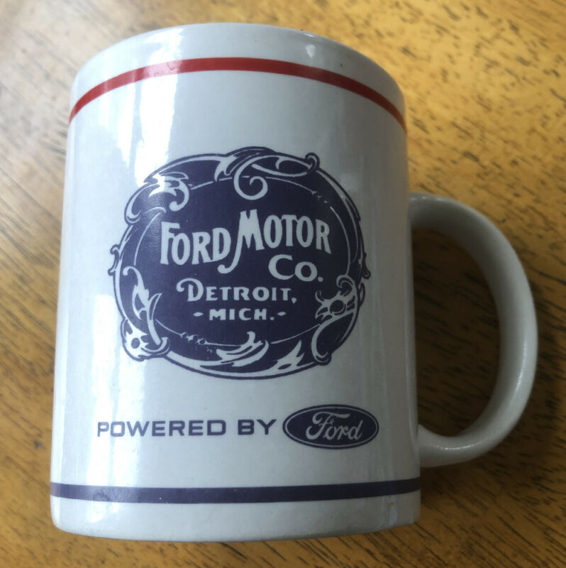 Ford Motor Company Logo Red White Blue Ford Script Coffee Cup
