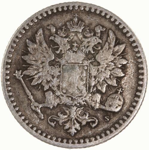 Raw 1865 Finland 50 Pennia