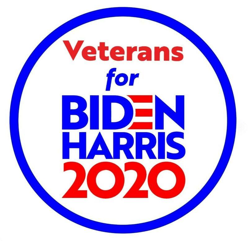 Veterans For Biden Harris 2020  Election Bumper Stickers Joe Kamala  Vets