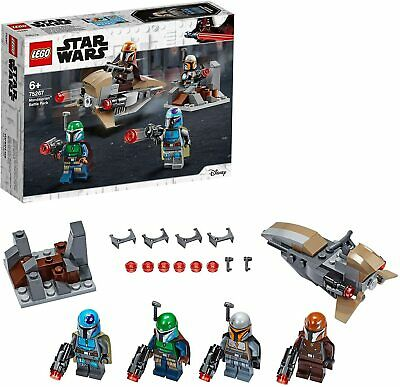 LEGO Star Wars Mandalorian Battle Pack Set 4 Mini-Figures Speeder Bike Mini-Fort