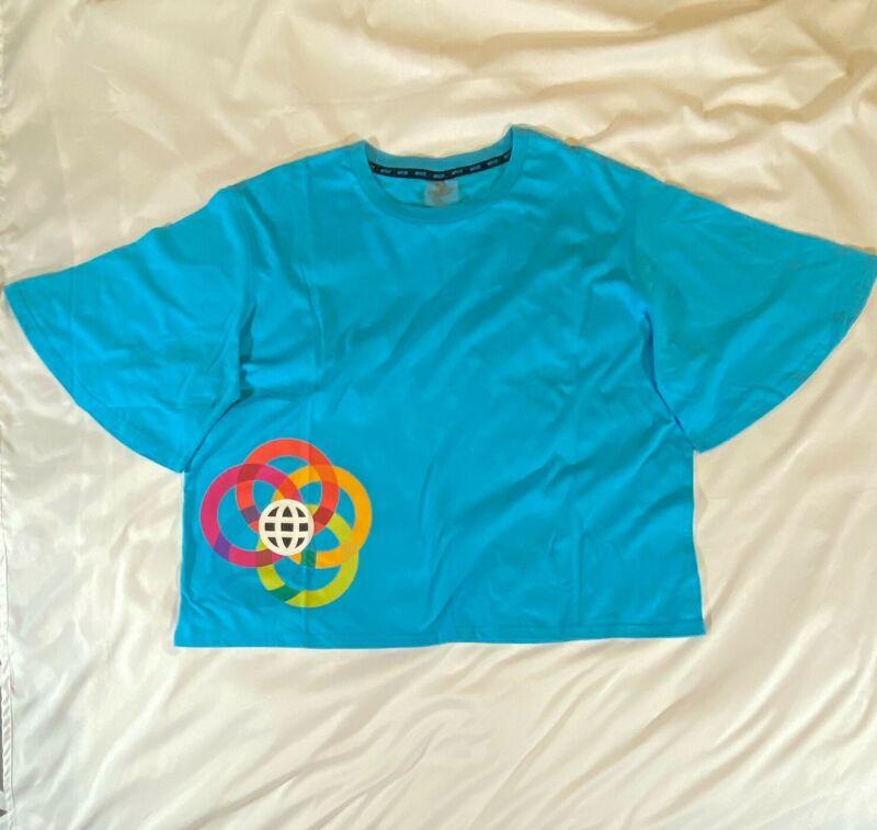 Epcot Center Logo Creations Shop Disney Crop Top T-Shirt XL