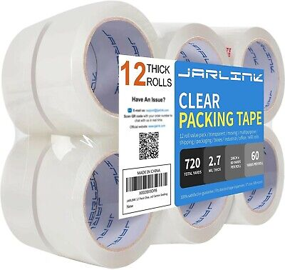 Jarlink Clear Packing Tape 12 Rolls Heavy Duty Packaging Tape For Shipping...