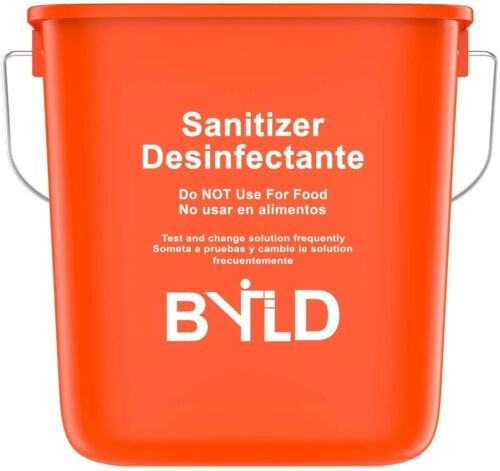 BYLD - Sanitizing Cleaning Bucket - 3 Quart, Red