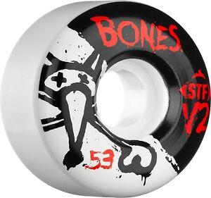 Bones - V2 Series 53MM STF Skateboard Wheels