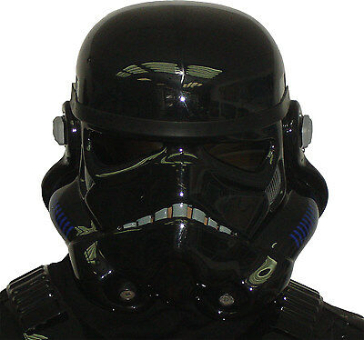 schwarz Stormtrooper Helm - für Star Wars Schattentruppler Kostüm Rüstung
