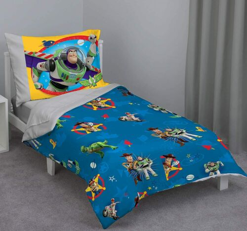 Disney Toy Story - Play Time 4Piece Toddler Bed Set with Comforter Standard Size