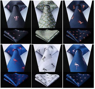 Mens Animal Tie 100% Silk Jacquard Necktie 3.4