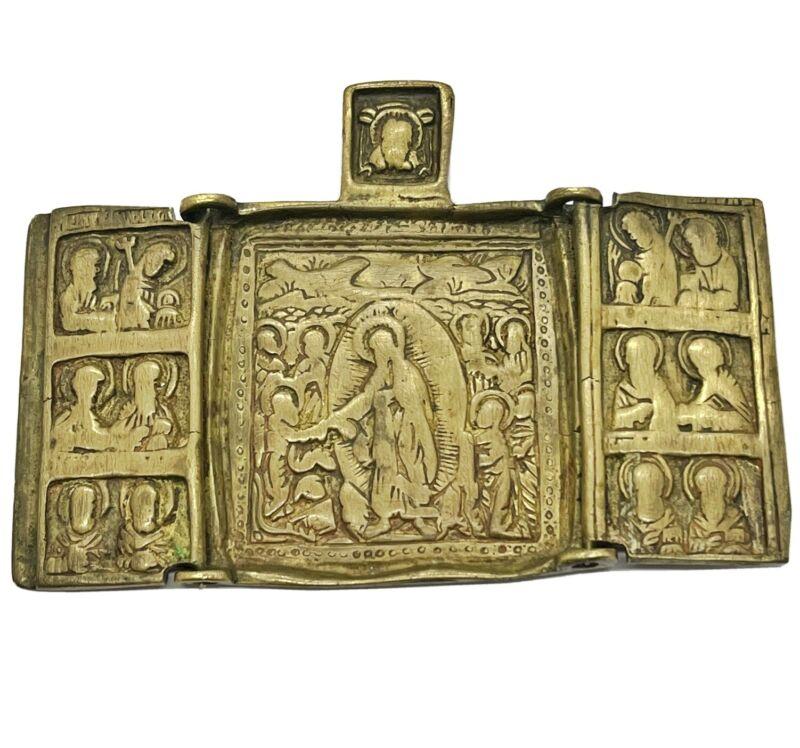 Medieval European Orthodox Christian Icon Artifact Antiquity - Ca 1500-1700 AD -