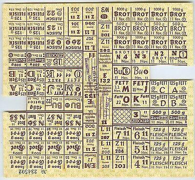 Lebensmittelmarken Januar 1949 Bremen LEA Lebensmittelkarte Emigholz Dokument