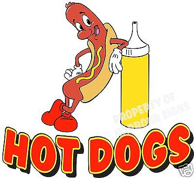 Hot Dogs Decal 14 Concession Restaurant Food Truck Stand Vinyl Menu Sticker