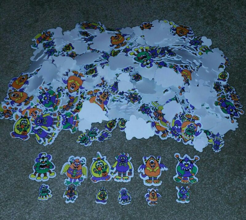 Craft Foam Self-Adhesive Halloween Monsters Shapes 450+ Pieces 3D Stickers