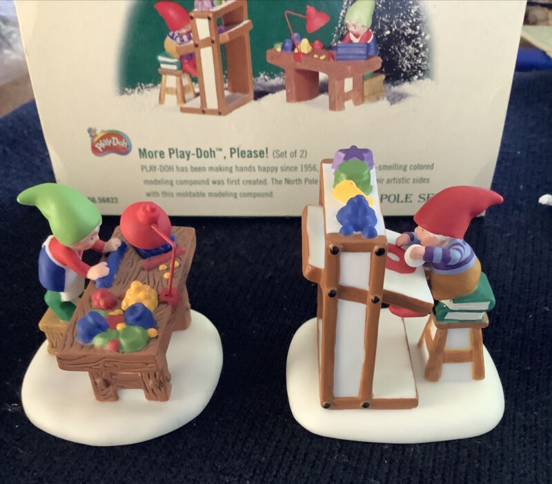 Department Dept 56 North Pole Series More Play-doh Please #56.56822 Elves In Box
