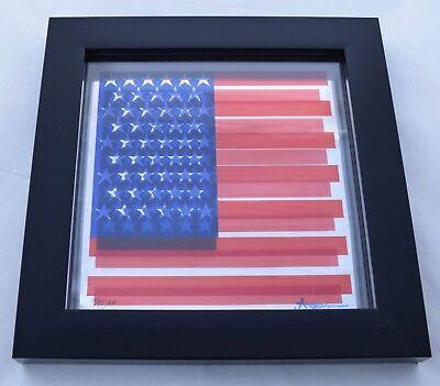 Yaacov Agam Agamograph Serigraph on glass kinetic art abstract American flag for sale  Santa Fe