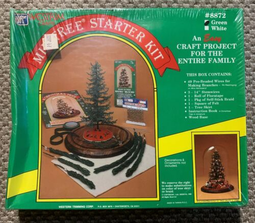 Sealed Vintage 1985 Westrim Crafts Minitree Starter Kit Christmas Tree 8872