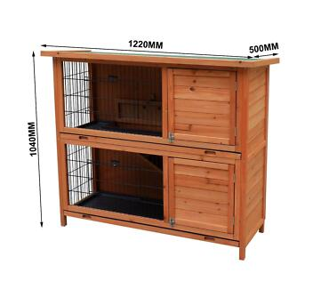 X-LARGE DOUBLE STOREY RABBIT HUTCH , GUINEA PIG HUTCH FERRET