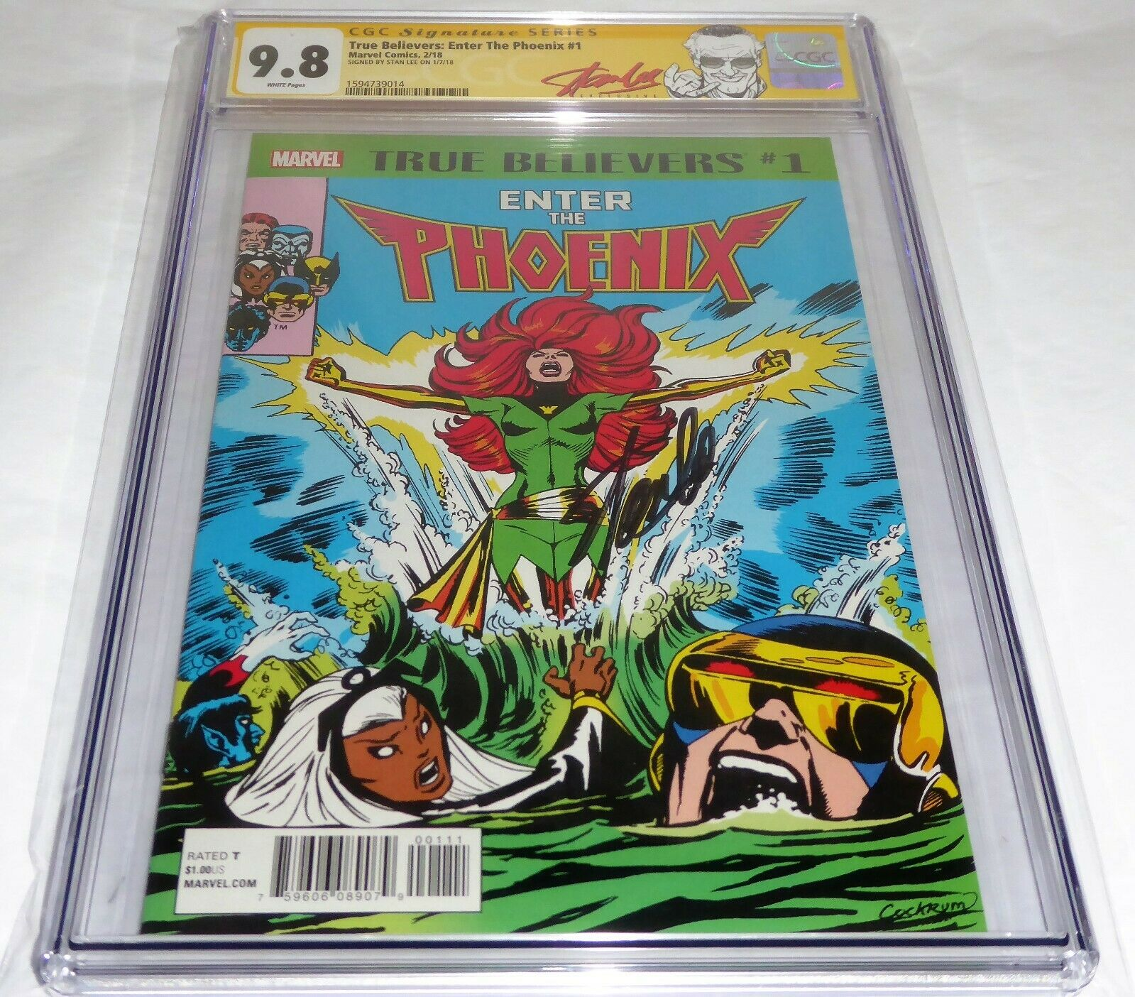 True Believers Enter the Phoenix #1 CGC SS 9.8 Signature Signed STAN LEE Reprint