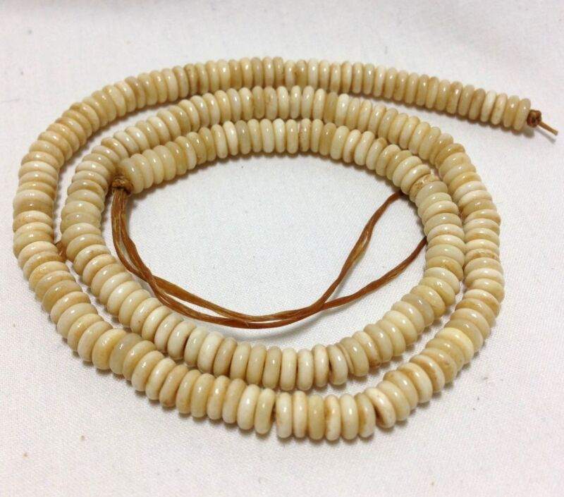 """4mm Disc/Rondelle Antiqued Bone Beads, Approximately 200 Beads per 16"""" Strand"""
