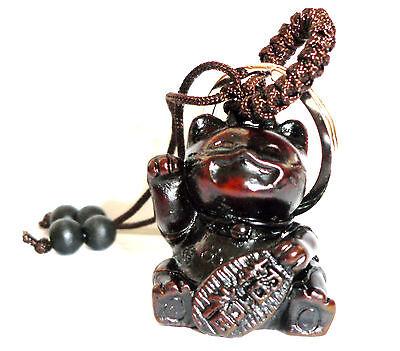 Maneki Neko - kleine Winkekatze als Glücksbringer - als Schlüsselanhänger
