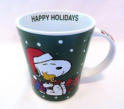 Coffee Cup Mug Peanuts Christmas Snoopy And Woodstock 15 oz New