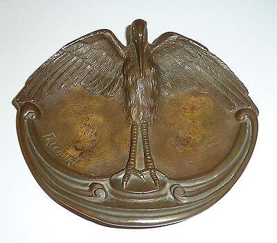Art Deco Aschenbecher um 1920 Bronze Figur Vogel Maurice Frecourt Art D�co