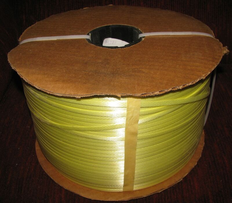 "1 Roll Spool 1/4"" Poly Polypropylene Strapping Yellow 2 3/8"" Core Free Shipping!"