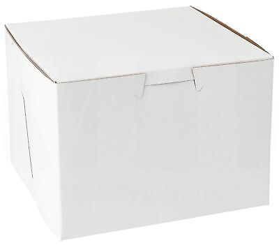 5.5 X 5.5 X 4 Clay Coated Paperboard White Bakery Box Pack Of 15