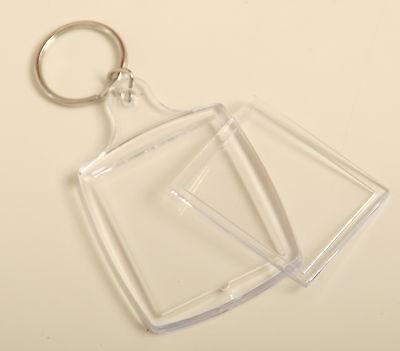 5 x Acryl Schlüsselanhänger für Ihr Foto Bild Werbung Werbeanhänger
