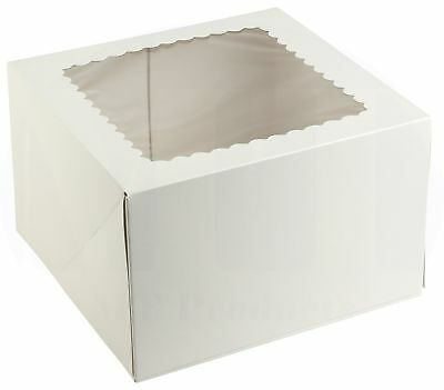 8 Length X 8 Width X 5 Height White Bakery Box By Mt Products - 15 Pieces