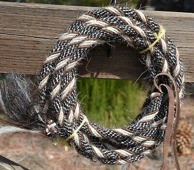 Horseman/'s Reins 22ft Mecate Rein Black Professional Rope 12.5mm thickness