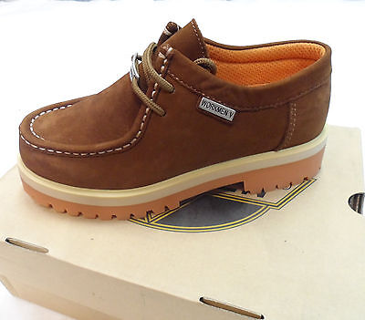 Back to School Boys Women  Workmen-V Shoes Nubuck Leather Dark Brown for Work - Back To School Boys Shoes