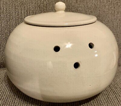 Garlic Keeper Roaster Mamma Ro Off White Classic Collection Round With Lid Italy