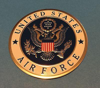UNITED STATES AIR FORCE LARGE EMBLEM 4' inch Embossed Litho Printed LOGO