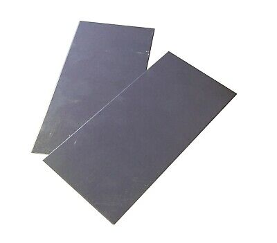 2pc 18ga .05 3x6 Galvanized Zinc Coated Steel Sheet Metal Platemagnetic