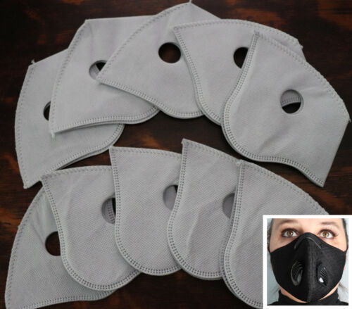 10pc set Replacement filters for Cycling Protective Air Purifying Mask Carbon