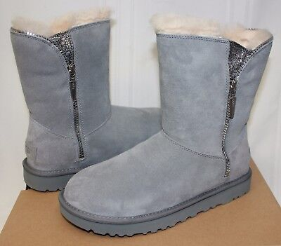 UGG Women's Marice Geyser Grey Suede zipper boots New With - Ugg With Zipper