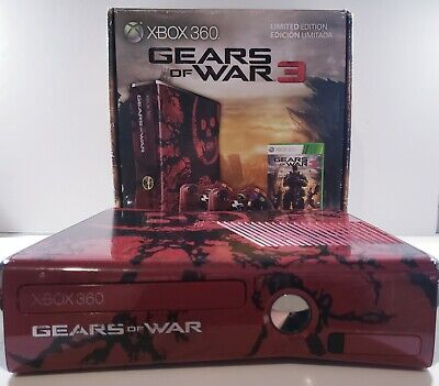 Microsoft Xbox 360 Gears Of War 3 Limited Edition 320GB - CONSOLE ONLY - Tested