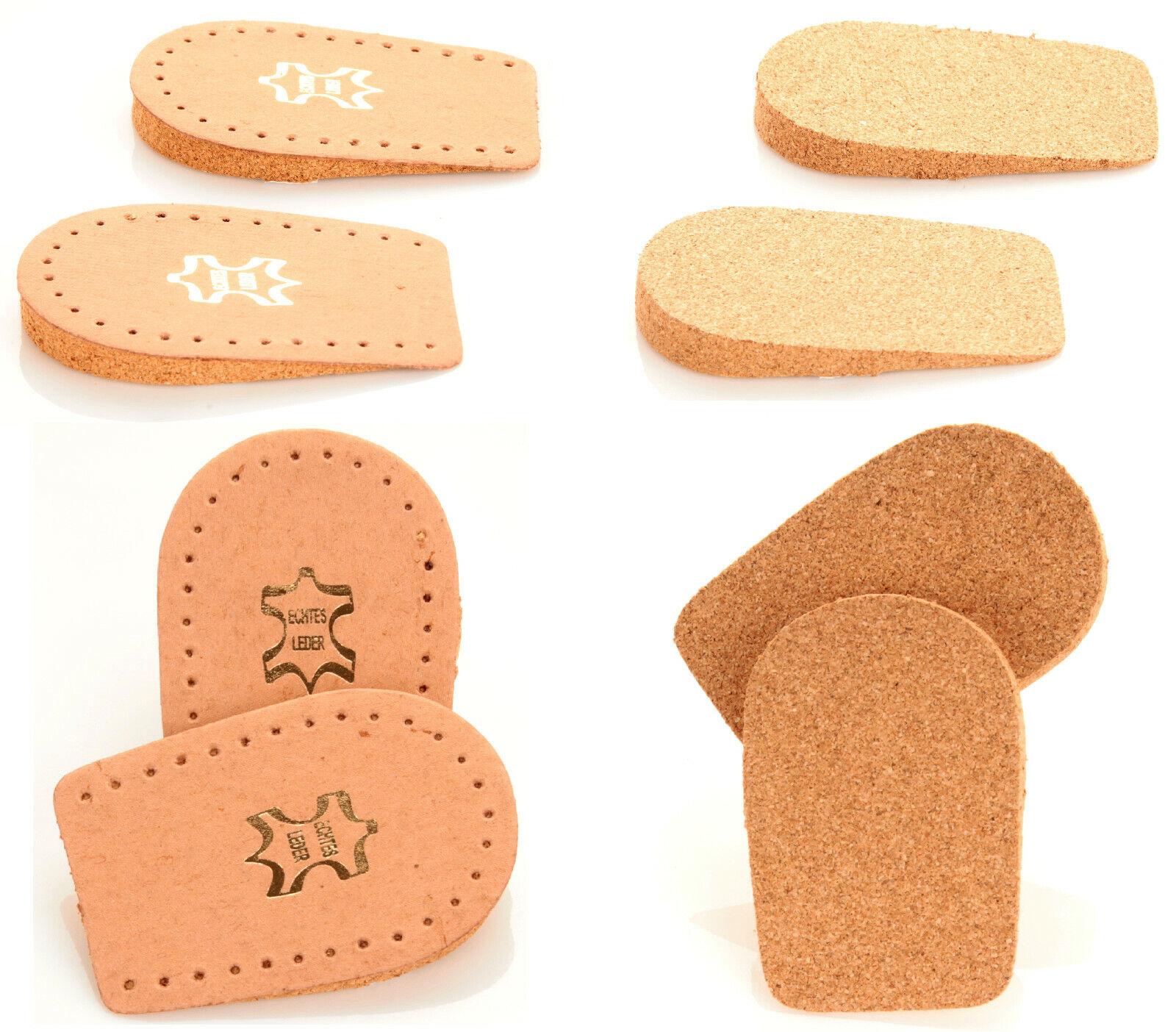 Fersenpolster Fersenschutz Set Fersenkissen für die Ferse Echt Leder & Kork NEU