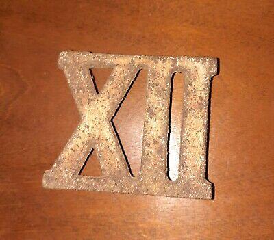 Victorian Cast Iron Clock Roman Numeral XII (12 or Twelve)