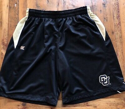 Colorado Buffaloes Mens 2XL Basketball Athletic Shorts Black Embroidered CU Logo