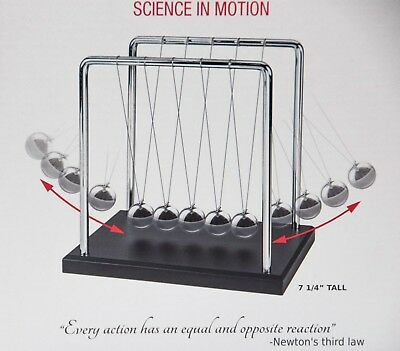 Newtons Cradle Art In Motion 7 14-inch Balance Balls.