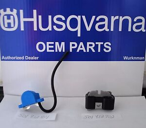 Genuine HUSQVARNA OEM  501812702 & 501812801 288XP 281 181 IGNITION COIL SET