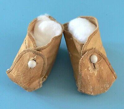 Antique Vintage Oilcloth Baby Doll Shoes German Bisque Effanbee Madame Alexander