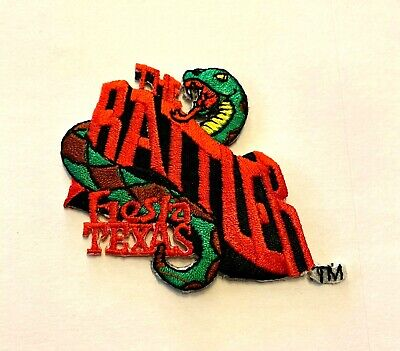 "NEW RARE Six Flags The Rattler Roller Coaster Fiesta Texas Iron On Patch 2"" x 2"""
