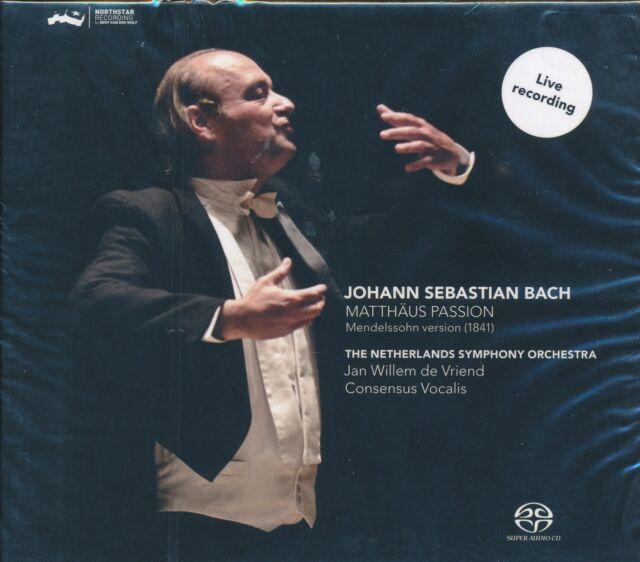 Jan Wilem de Vriend Bach Matthaus Passion CD NEW Netherlands Symphony Orchestra