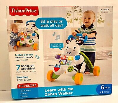 Fisher-Price Learn With Me Zebra Baby Walker Toddler Toy New